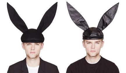 Comme des Garçons bunny caps