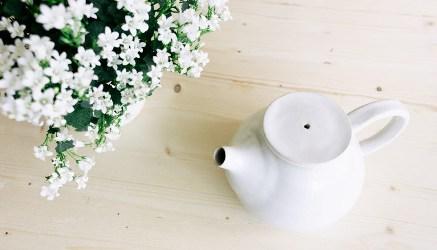 tea and flowers