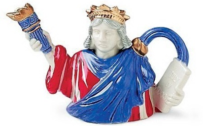 Fitz And Floyd Statue Of Liberty Mini Teapot