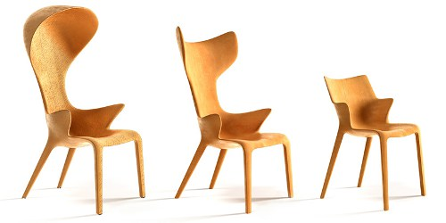 Lou chairs designed by Philippe Starck