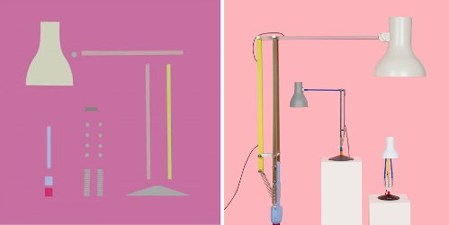 Paul Smith + Anglepoise lamps