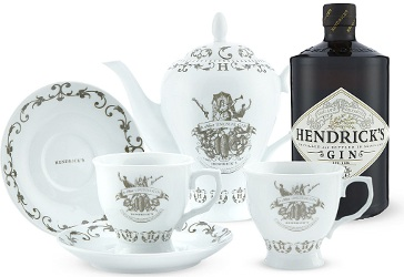 Hendricks Gin teapot and cups
