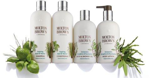 Molton Brown Basil & Vetiver and Samphire & Eucalyptus