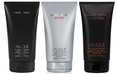 Lalique Encre Noire shower gels