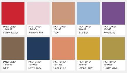 Pantone Fall 2017, London colors