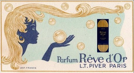 Piver Rêve d'Or vintage advert