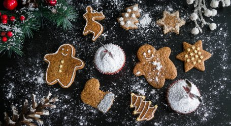 Christmas cookies and muffins