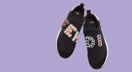 Fendi Fun Fair Logo Sneakers