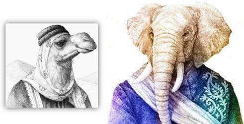 Zoologist Camel & Elephant