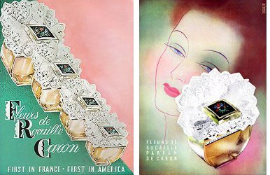 Caron Fleurs de Rocailles vintage adverts